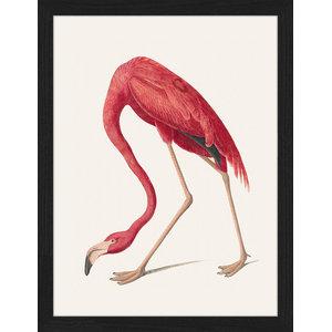 """""""Vintage Flamingo"""" Framed Art Print, 35x45 cm"""