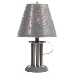 Superb Southwestern Table Lamps Round Candle Mold Lamp Chisel Shade