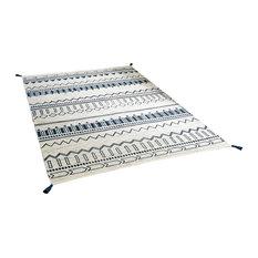 Beni Weavers Blue Rectangle Traditional Rug, 70x140 cm