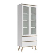 Magni White Display Cabinet, Scandi Style