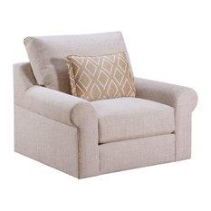 Pompeii Snow Swivel Chair