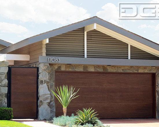 Modern Garage Doors orange county, ca mid century modern garage doors custom designed