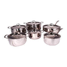 Le Chef 5-Ply Stainless Steel 12-Piece Cookware Set