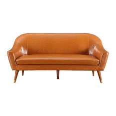 Divano Roma Furniture   Bonded Leather Sofa, Camel   Sofas