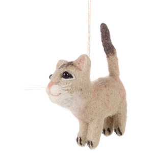 Felt So Good Cats Family Christmas Decoration, Brown