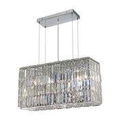 Maxime 8-Light Chrome Chandelier, Crystal: Royal Cut