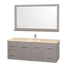 22.25 in. Wall Mounted Vanity Set with Mirror