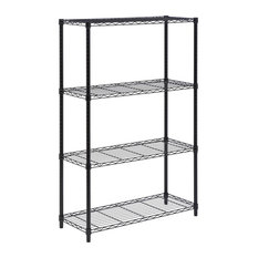 Honey Can Do 4-Tier Shelving Unit, 350Lb. Black