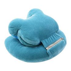 Soft Neck Head Rest Pillow Office Napping Portable Travel Pillow Bear Blue