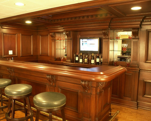 Custom residential bar houzz - Residential bars ...
