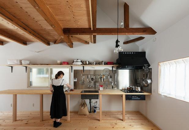 コンテンポラリー キッチン by Coil 松村一輝建築設計事務所