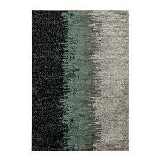 """Transitional 120""""x96"""" Rectangle Area Rug, Turquoise"""