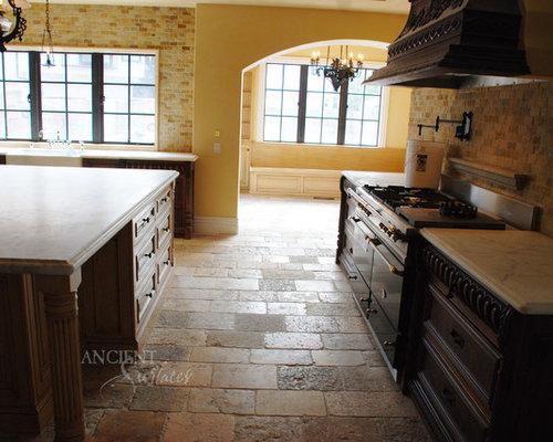 Kitchen Stone Floors Mediterranean Style - Wall And Floor Tile
