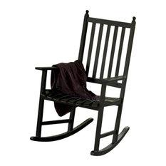 ... OFR-05 Eucalyptus Rocker - Black Polyurethane - Outdoor Rocking Chairs