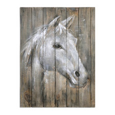 Uttermost Dreamhorse Hand Painting Barnwood Wall Art