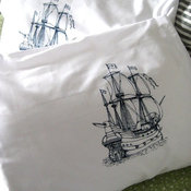 Screenprinted Nautical Pillow Covers by Oh Little Rabbit