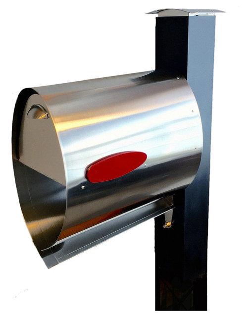 Spira Large Post Mount Mailbox Bundle Stainless Steel