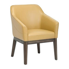 artefac comfortable compact armchair with distressed finished legs mustard armchairs and accent chairs