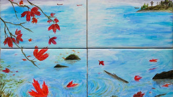 Canada - Painting on Ceramic Tiles