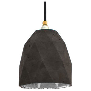 T1 Triangle Pendant Light, Charcoal/Silver