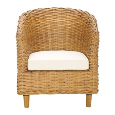 Safavieh   Omni Rattan Barrel Chair   Armchairs And Accent Chairs