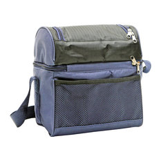 Hot & Cold Cooler Bag, Black & Blue