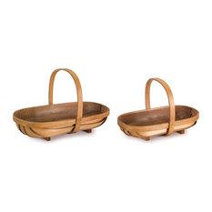 """Basket, Set of 4, 13""""x9""""H, 15.75""""x10.5""""H Metasequoia"""