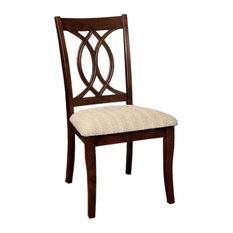 Carlisle Transitional Side Chair Brown Cherry Finish Set Of 2