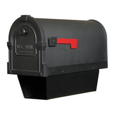 Savannah Curbside Mailbox With Paper Tube, Hand Rubbed Bronze