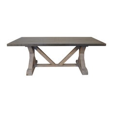 Zinc Top Dining Room Tables Houzz - Zinc dining room table