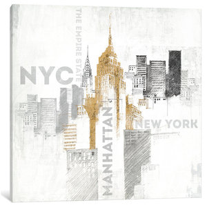 Empire State Building Print Contemporary Prints And Posters By Posterazzi
