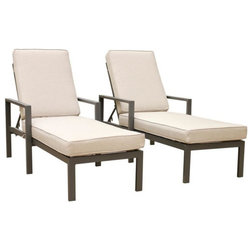 Transitional Outdoor Chaise Lounges by iPatio Furniture