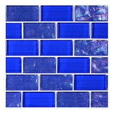 "12""x12"" Glass Tile Blends Twilight Series, Royal Blue"