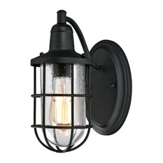 """Westinghouse 6334700 Crestview 1 Light 12-3/16"""" Tall Outdoor Wall - Black"""