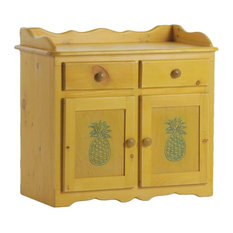 Carver Dry Sink in Yellow with Ocean Pineapples