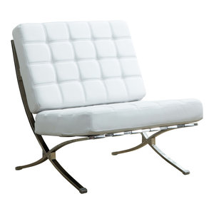 Remarkable Bonded Leather White Chair Contemporary Armchairs And Alphanode Cool Chair Designs And Ideas Alphanodeonline