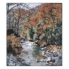 "River Side Forest Landscape Mosaic, 24""x28"""