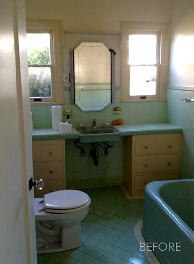 farmhouse charming vintage inspired master bath remodel - 1950s Bathroom Remodel Before And After