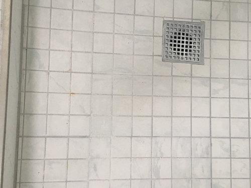 White Marks On New Shower Floor Grout