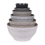 French Country Grey 6-Piece Mixing Bowl Set