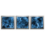 Metal Art Studio - Storm Essence, Contemporary Blue, Black and Silver Decor, Modern Metal Art - Storm Essence is an ultra-modern monochromatic art piece. The multilayer and multi-panel combinations create sculptural depth and intriguing shadowing, giving this contemporary wall decor an added element that is missing from typical flat wall art. The set-back, rear layer has a grind pattern texture applied to create an interesting framed backdrop. The raised front layers feature exciting blue and black accent tones. The goregous satin matte front layers in the piece contrast by the bright sheen of the swirling metal mount. The oceanic shade of blue has a quality of depth reminiscent of the bottomless abyss, giving a profound and sophisticated feel to this magnificent piece. Just the right combination of the magnificence of a storm and the calming joys of nature - a contemporary metal art piece that would compliment cool tones or masculine decor.
