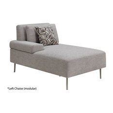 BRYN CONTEMPORARY STYLE GRAY LEFT CHAISE