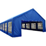 "Western Pacific Wholesale - 20'x40' Party Canopy/Gazebo, Steel Pole Frame, Royal Blue - Royal Blue 20' x 40' Wedding Gazebo Canopy Party Tent!  Color, Royal Blue. 20'W x 40'L x 11.8'H (peak). Side Wall height is 2 meters which is equal to 6' 6"". It has a very strong 100% steel pole frame construction. It has large windows and doors, perfect for any event! There is a door on both sides! 1 Year Parts Warranty does not cover any acts of nature.  Specifications:"