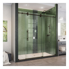 Enigma-XO 68-72 Frameless Sliding Shower Door Oil Rubbed Bronze