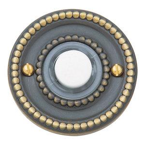 Antique Brass Top Notch Distributors Inc. Home Improvement Baldwin 4858050 Oval Bell Button