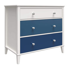 Modern Classic Dresser, Multicolored Design With Large Storage Drawers, Single-B