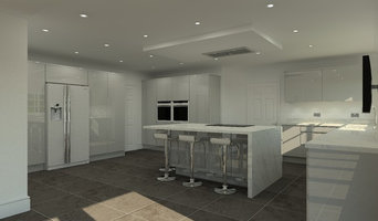 Harry Kane's Modern Gloss Silver and Marble 3D Kitchen Design