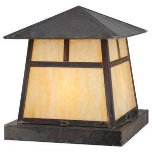 20 Square Stillwater Cross Mission Pier Mount Craftsman Deck Lighting By Buildcom