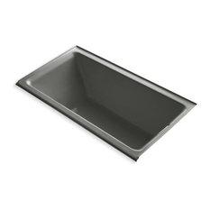 "Kohler Tea-For-2 66""x36"" Alcove Bath With Right-Hand Drain, Thunder Gray"