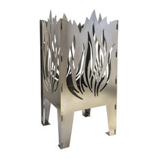 Flame Solid Steel Wood Burning Fire Pit
